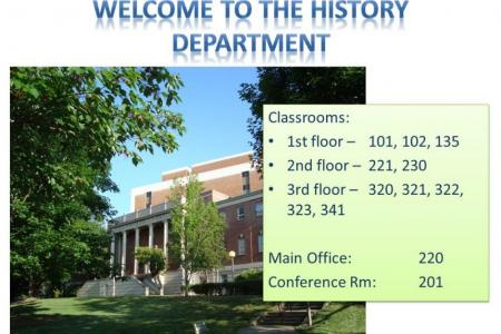 image of LeConte Hall and list of classroooms in LeConte: 101, 102, 135, 230, 221, 320, 321, 322, 323, 341