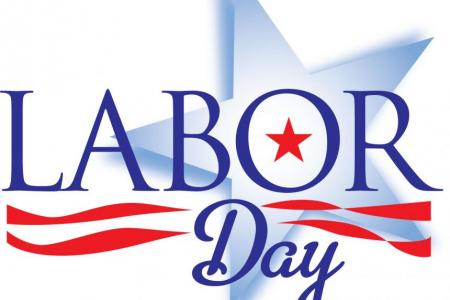image of Labor Day text for holiday